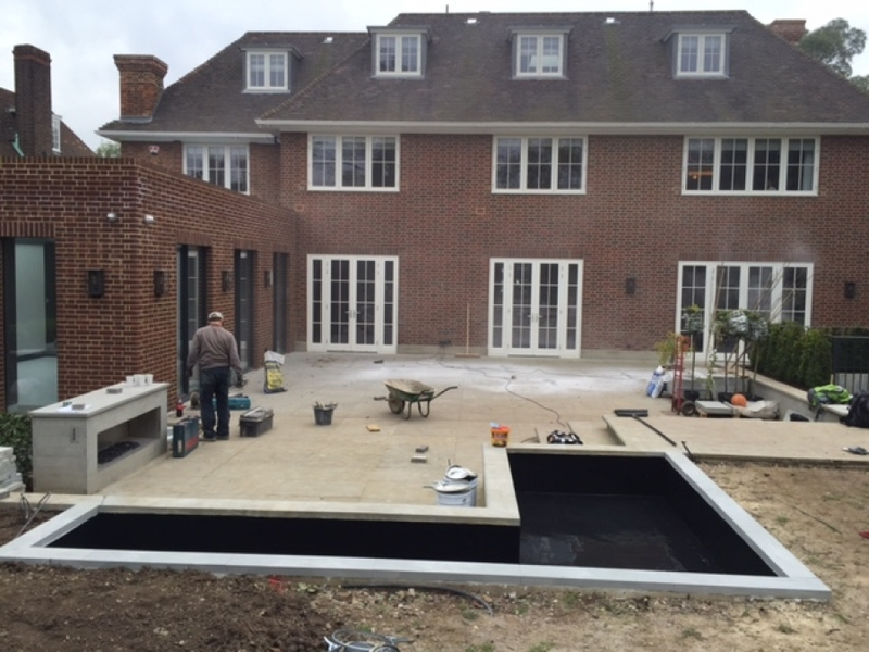 Hampstead pond sealing with impermax paint