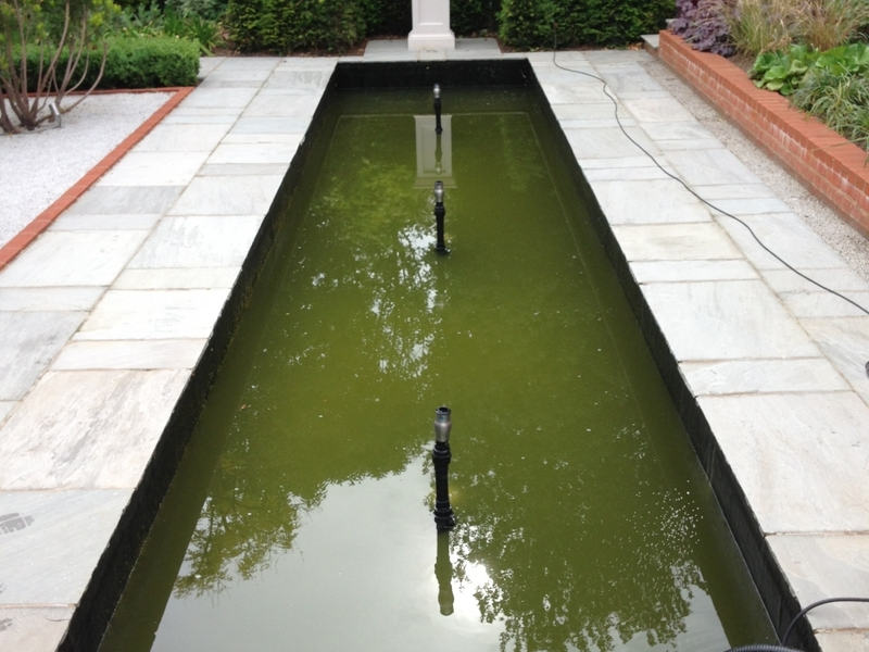 Broxbourne, Hertfordshire water feature clean