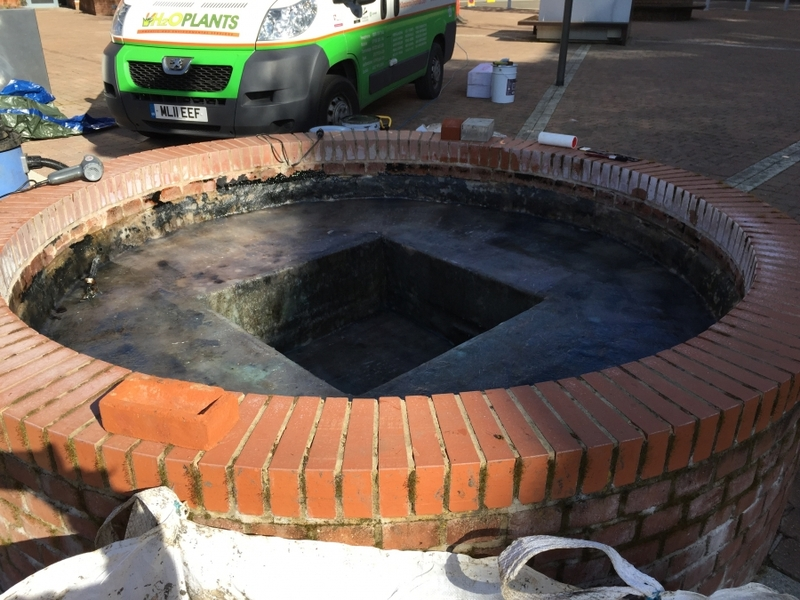 Oxford waterfeature clean and GRP