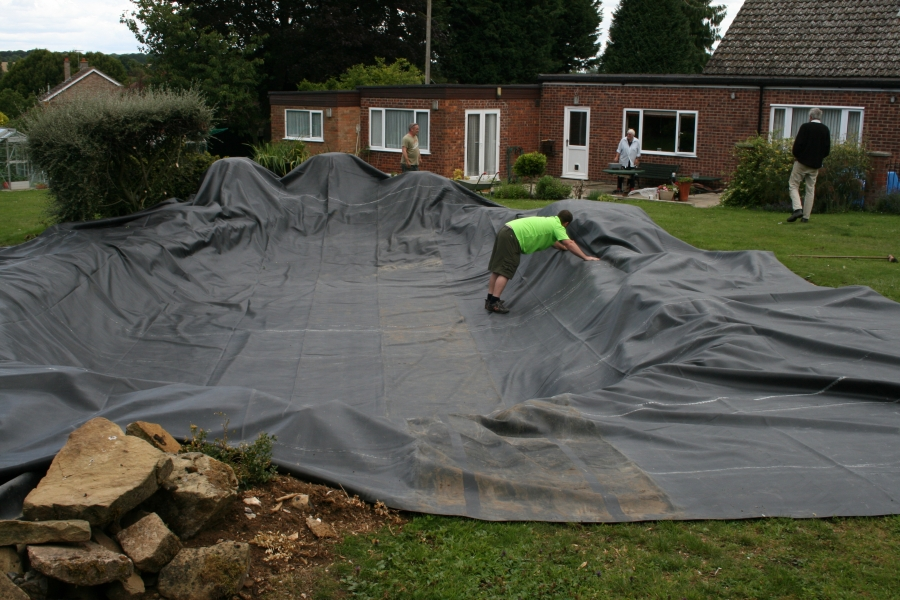 Firestone pond liner install Bury St Edmunds, Suffolk