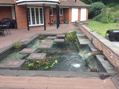 Bishops Stortford, Hertfordshire pond & filter clean