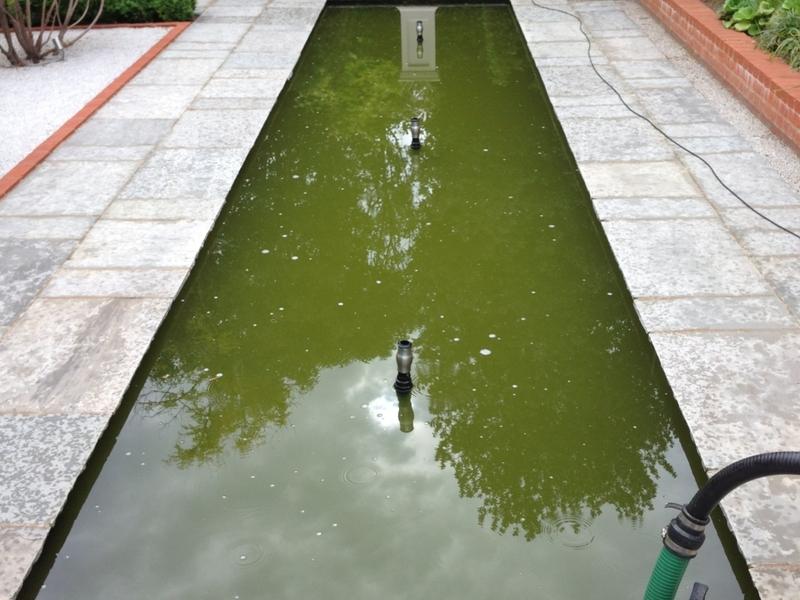 Broxbourne, Hertfordshire water feature clean