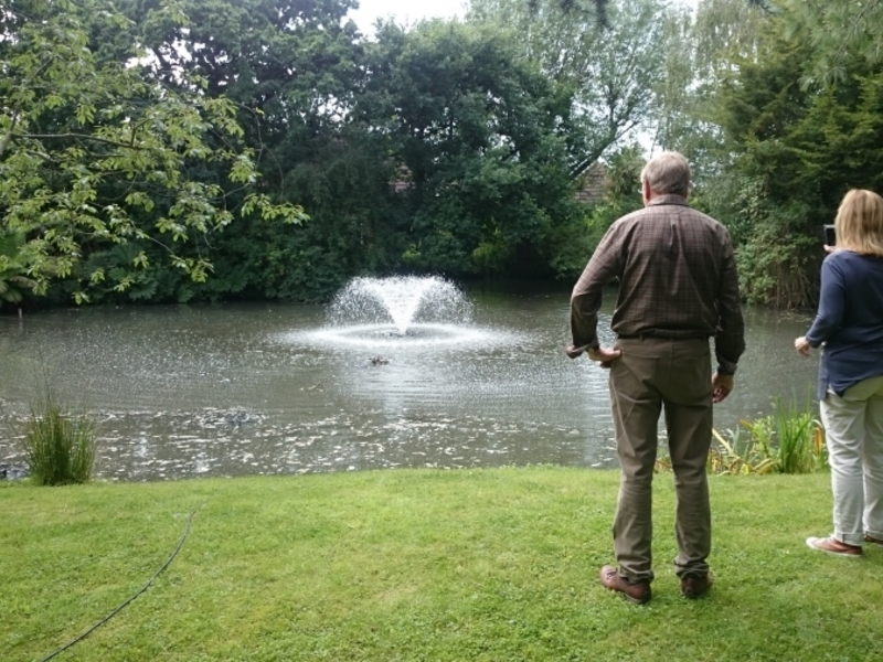 Aerating fountain installation South Woodham Ferres, Essex