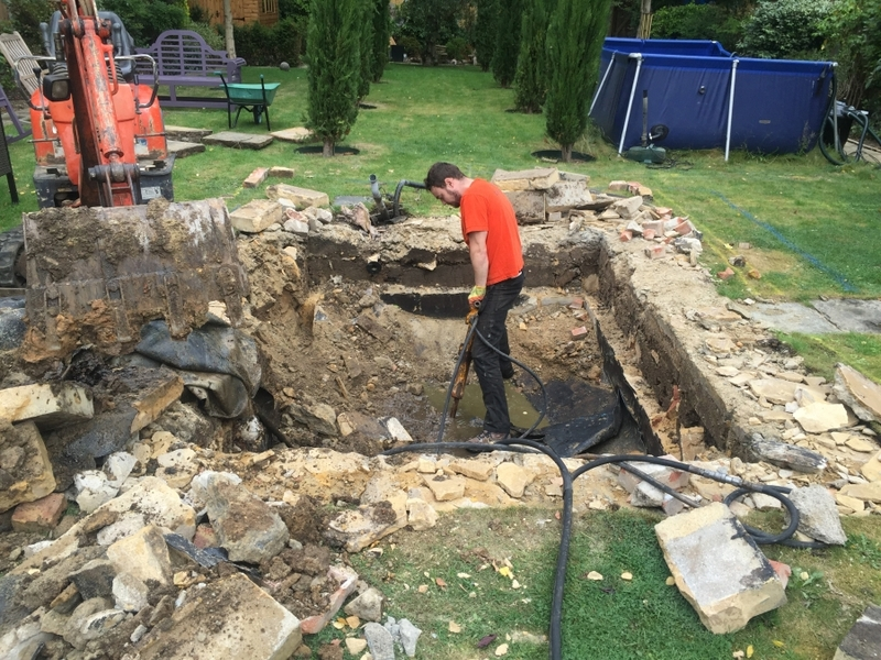 Fish transportation & Koi pond build, Loughton, Essex