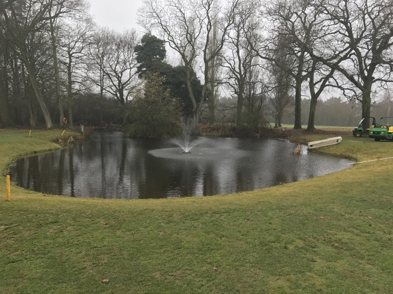 Brickendon Grange Golf Course, Hertfordshire Aerating Fountain installation