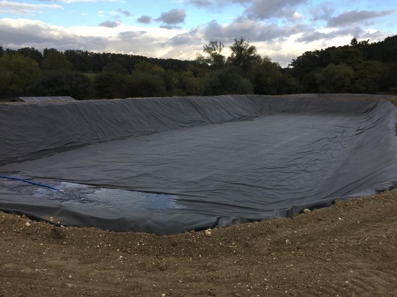 Great Hallingbury, Essex stock pond construction, Firestone EPDM linings, Fish supply and fish transportation