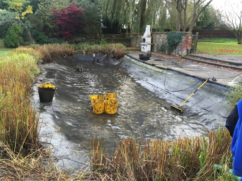 pond cleaning and de silting Sible Hedingham, Halsted, Essex