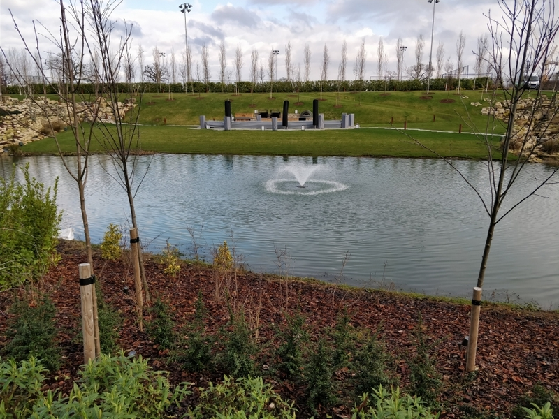 Aerating fountain supply and installation in Enfield London for Tottenham Hotspur Football Club
