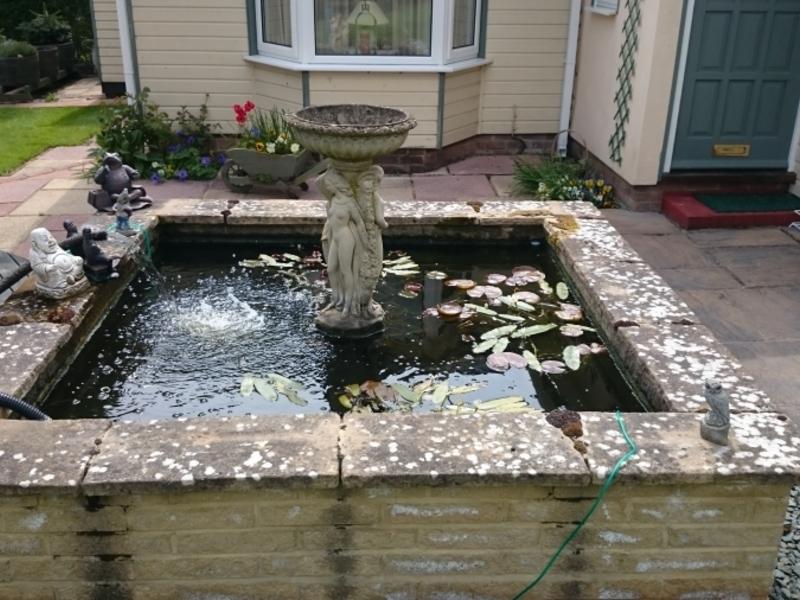 Pond clean in Clavering, Essex