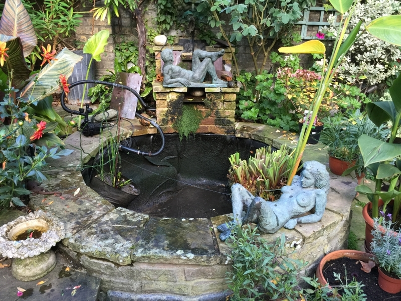 Small pond clean in Earls Court, London