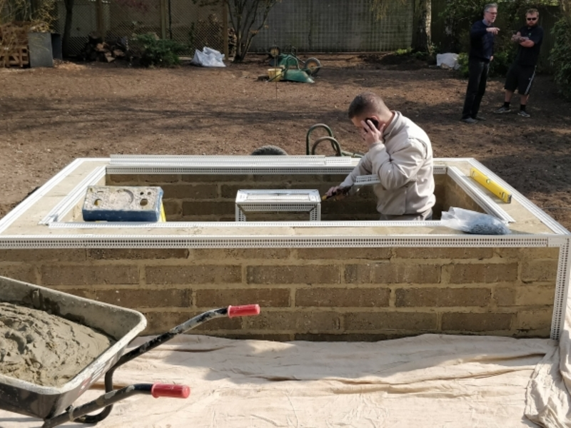 Pond construction and Water Feature installation in Newmarket, Suffolk.