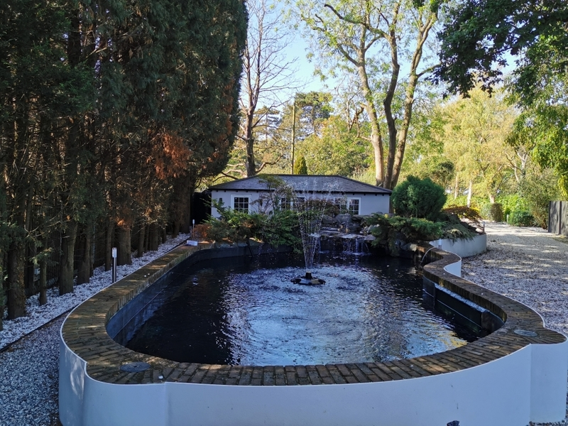 Pond and waterfall cleaning in Brentwood, Essex