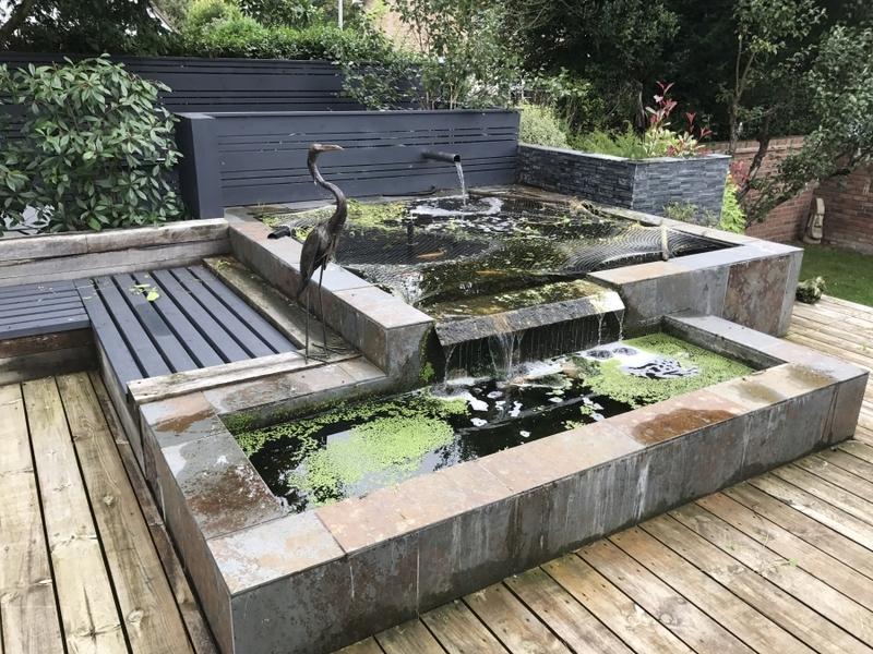 Pond clean and resealing in Royston, Hertfordshire