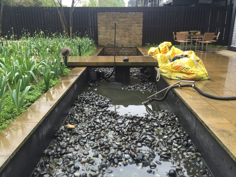 Water feature clean and reseal in Dulwich, London