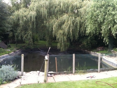 Epping Essex duck pond clean and liner install