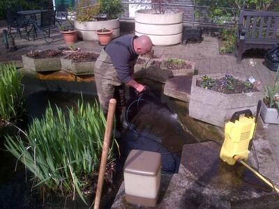 Pond fibreglassing Care home in Southwark London